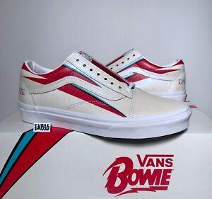 Details about Vans Old Skool X David Bowie Aladdin Sane True White Red Blue DB Size 3.5 13