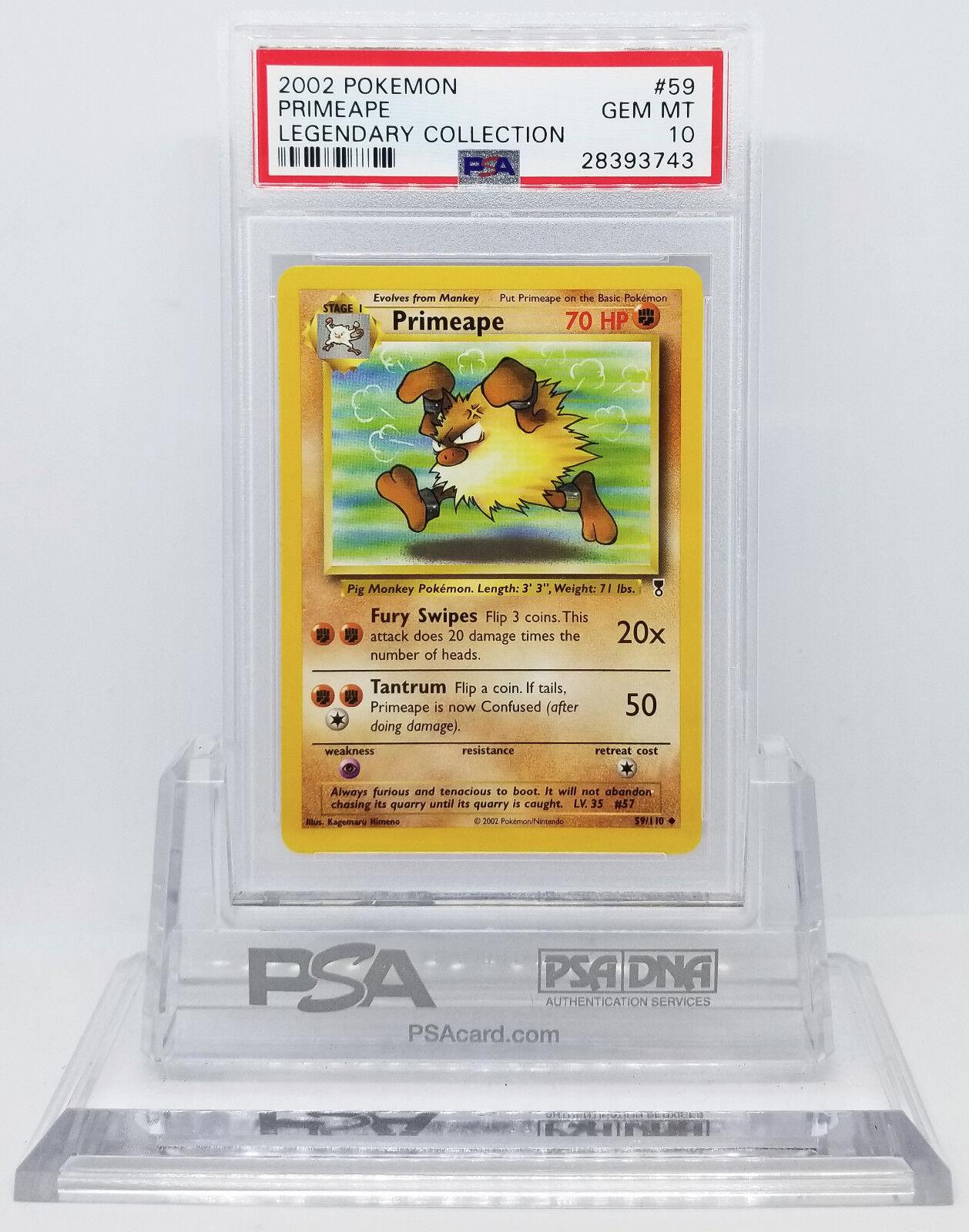 Pokemon legendäre sammlung primeape 59   110 psa 10 gem -