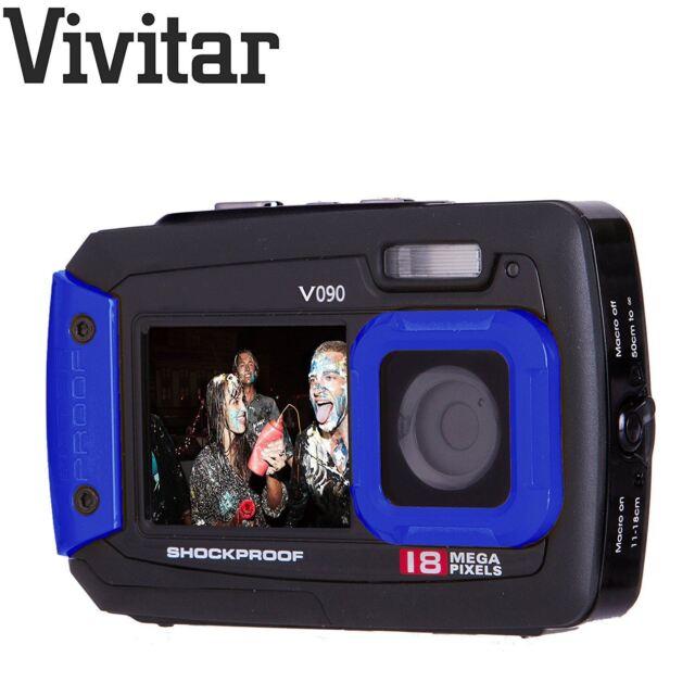 Vivitar Noir Bleu 18 Mégapixels Selfie Double Écran Imperméable