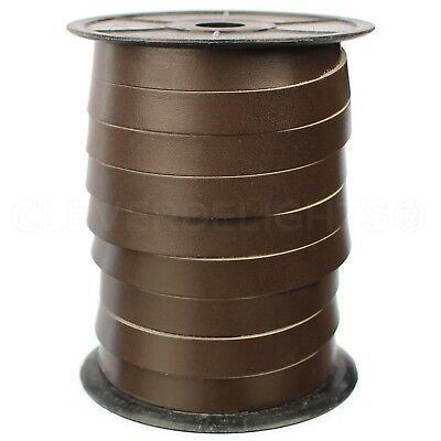 "5oz Premium Cowhide Strip 1//4/"" Genuine Leather Strap Black 30 Feet"
