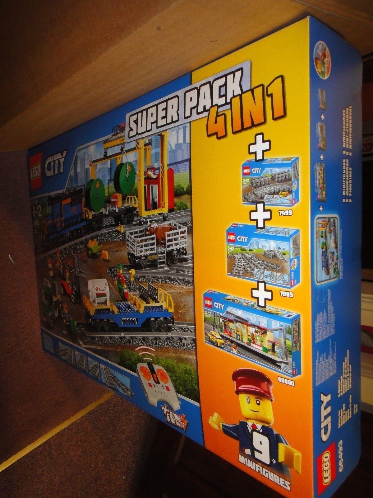 Lego City 66493 Télécommande Cargo Train, Gare, Pistes et Power Functions