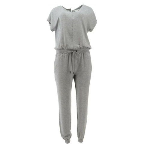 Skinnygirl Brave French-Terry Jumpsuit Heather Gra