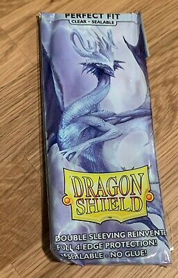 1000 Dragon Shield Perfect Fit Inner Sleeves Sealable Clear brand new