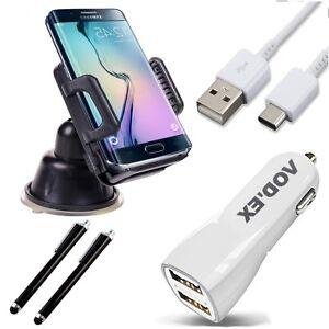 5in1-Auto-Set-Ladekabel-KFZ-Halterung-Pen-HS2-Fuer-Samsung-Galaxy-A3-2018
