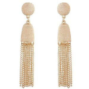 Women-Elegant-Alloy-Metal-Chain-Long-Tassel-Earrings-Gold-Ear-Stud-Jewelry-Gifts