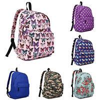 Womens School Shoulder Bag Backpack Rucksack Large Canvas Flower Travel Work Gym