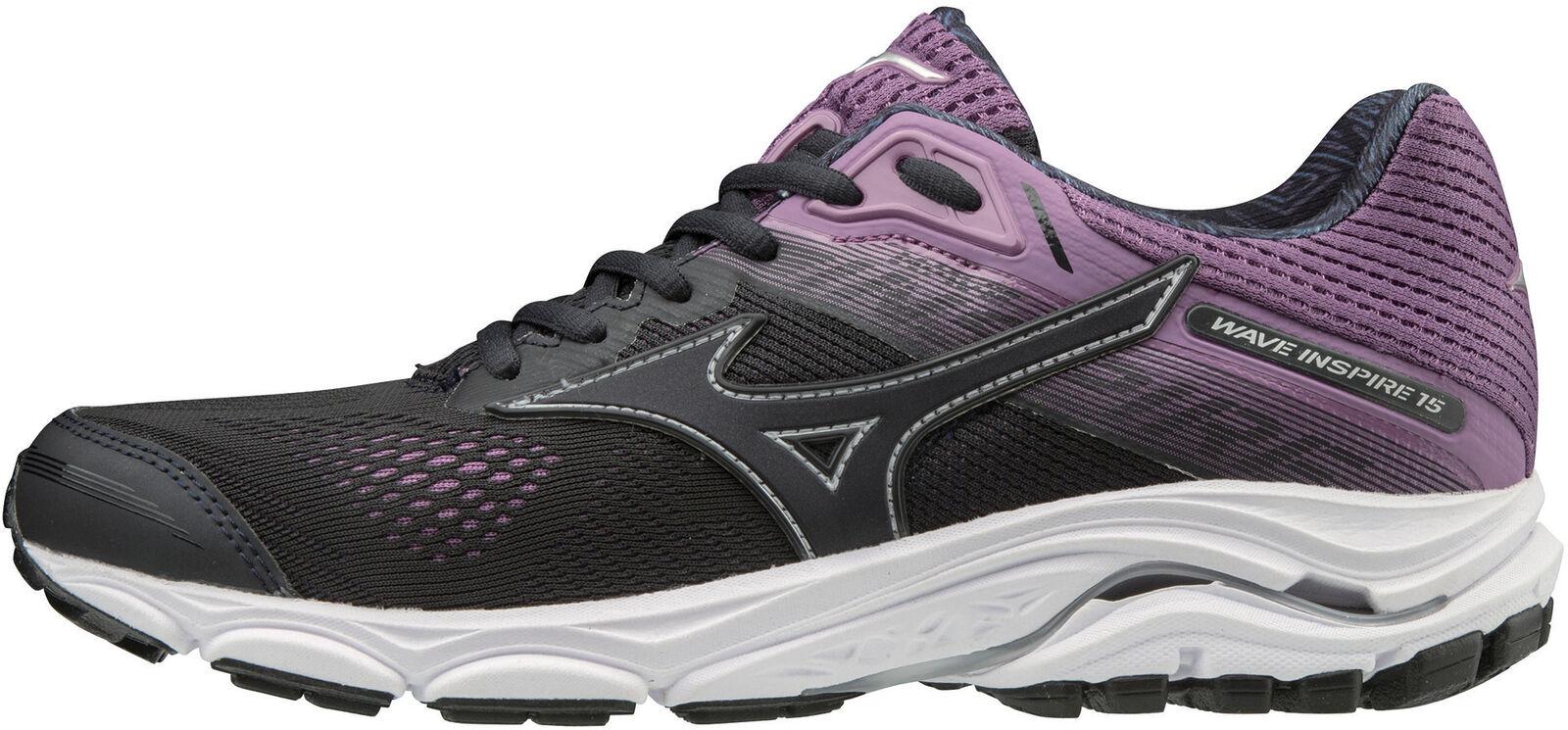 Mizuno Wave Inspire 15 vrouwnens hardlopen schoenen --zwart