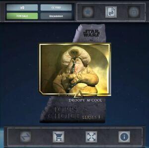 Topps Star Wars Digital Card Trader Navy Signature Droopy McCool Insert
