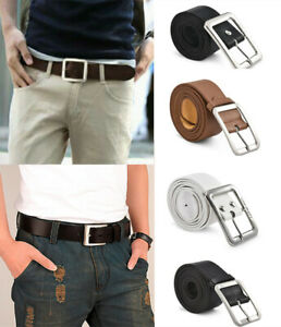 Men/'s Genuine Leather Dress Belt Casual Pin Buckle Waist Strap Belts WaistbandPB