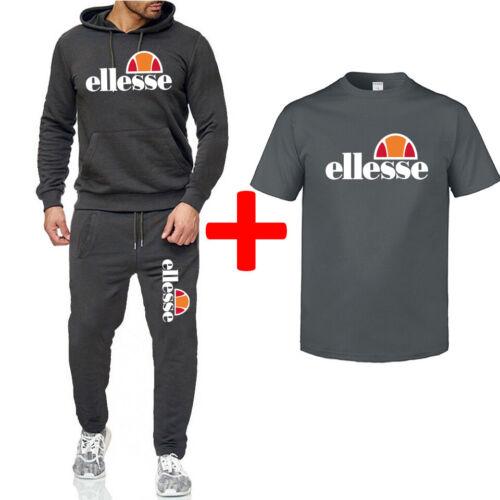 3 piece set ellesse Jogging Anzug Trainingsanzug Sweatshirt Sportanzug Polyanzug