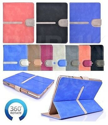 Black Friday luxury buckle 360 ° Rotating TAN suede Leather Case Cover for ipad