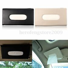 Car Interior Accessory Paper Napkin Holder Clip on Sun Visor Leather Tissue Box