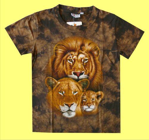 T-SHIRT Leone TG Marrone Africa Safari 98*104*110*116*122*128*134*140*146*152