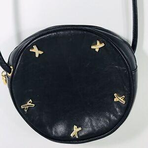 Paloma-Picasso-Black-Canteen-Round-Mini-Shoulder-Bag-Vintage