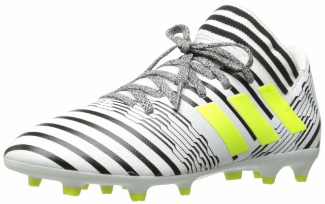 624c9a069f adidas Boys' Nemeziz 17.3 FG J Soccer Shoe, White/Solar Yellow/Black, 4  Medium