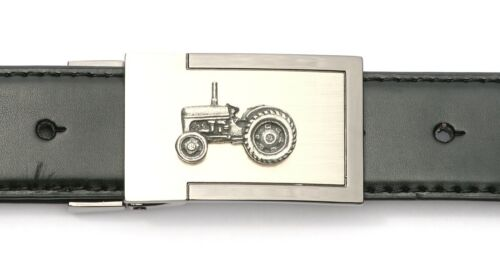 Tractor Emblem Belt Buckle and Leather Belt in Gift Tin Ideal Farming Gift 375