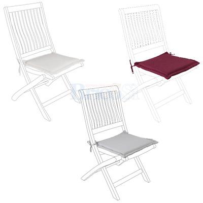 Cuscino seduta per sedia da giardino in legno sfoderabile idrorepellente 44x44cm | eBay