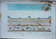 Paris : Vue d'optique représentant le Palais des Tuileries du côté de la Cour