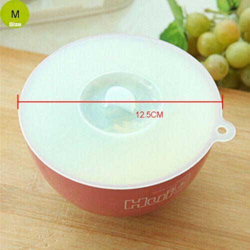 Drei Größen Klar Weiß Silikon Dicht Cup Cover Wrapping Deckel Küche Werkz 0U