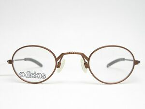 Light-Sunglasses-Frame-Metal-Adidas-Bronze-round-Metal-Rimmed-New-Vintage