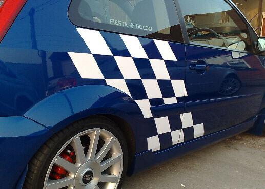 Ford Fiesta Mk6 Chequered Graphics Kit ST Zetec S 3 Door