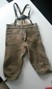 Trendmarkierung Original Antike Lederhose Kind Junge Mit Hosenträger Antiquitäten & Kunst nr.2