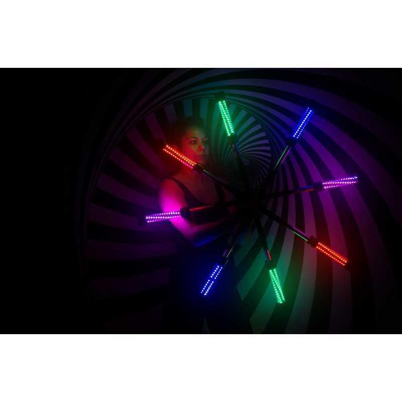 Personal de LED de Color-control remoto, rechaerchable, Varios Colores Y Modos
