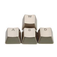 Zinc Alloy Transparent WASD MetalMechanical Keyboard Keycaps for Cherry MX
