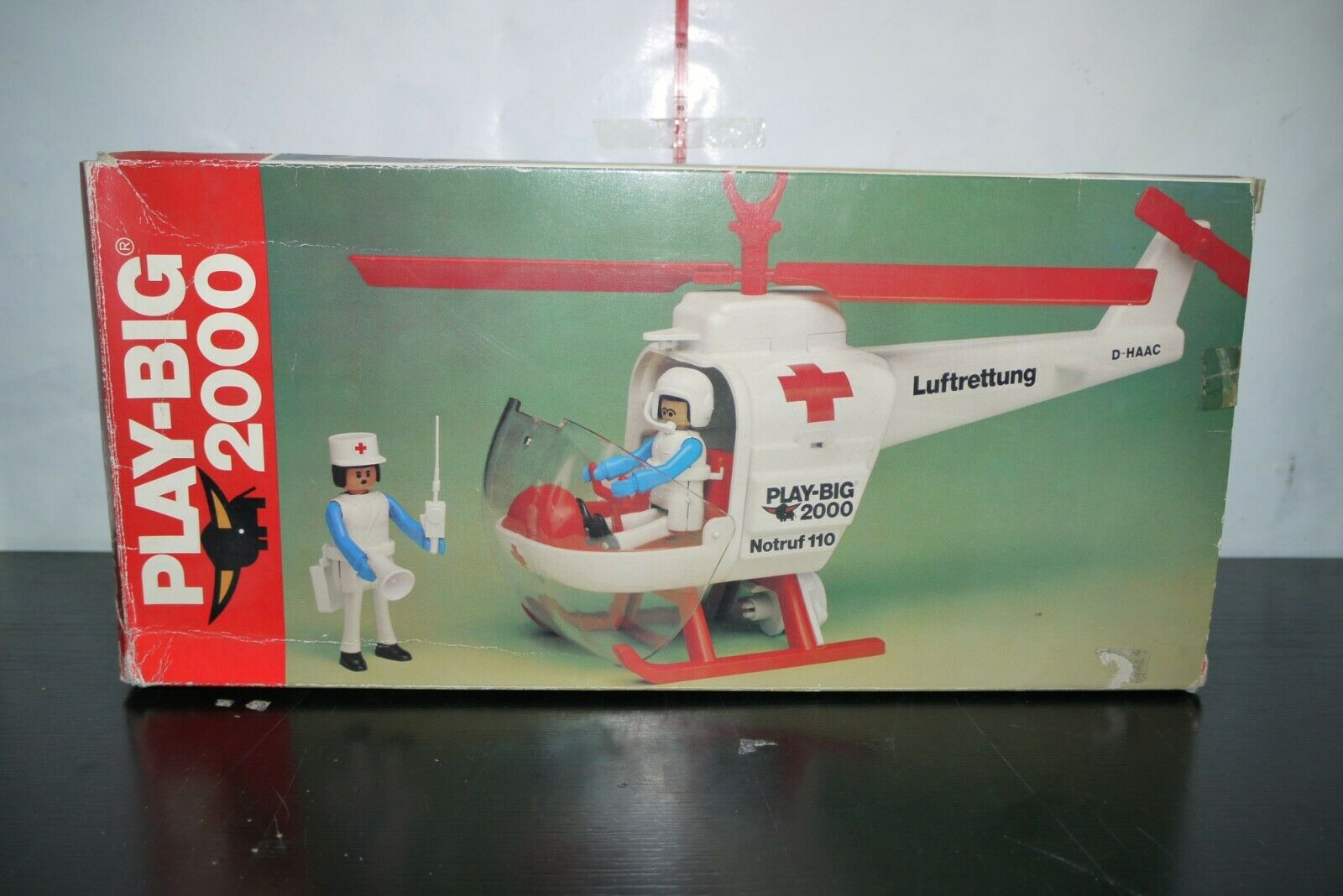 VINTAGE 80's  giocattolo PLAY gree 2000 1 20 HELICOPTER scatolaED  outlet