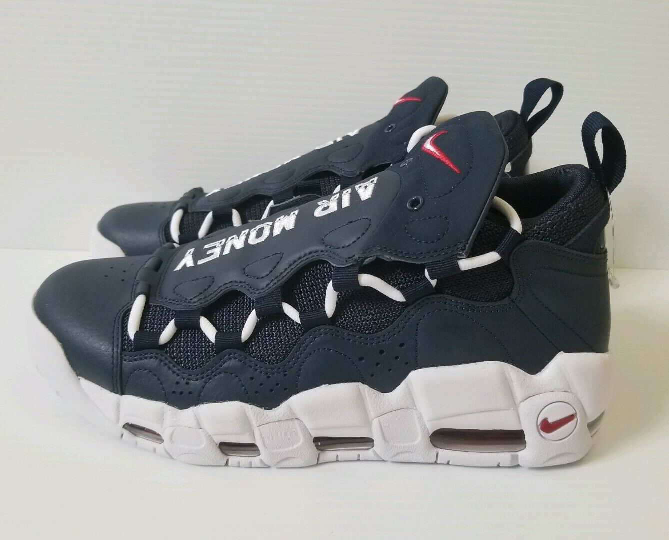 Nike Air More Money Uptempo Navy White Red Men shoes Olympic Sz 11  AJ2998 400
