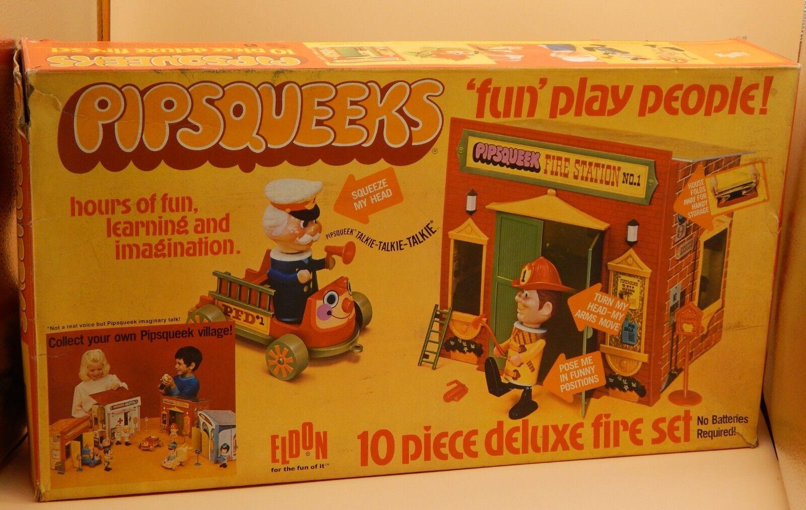 1970 Vintage Eldon Juguetes pipsqueeks fuego de Juego con Caja Original Rara MIB