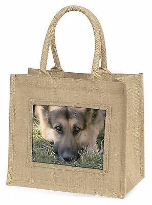 Schäferhund Große Natürliche Jute-einkaufstasche Weihnachten , AD-G43BLN