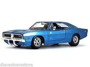 Maisto-1969-Dodge-Charger-Blu-1-25-Pressofuso-Nuovo-con-Scatola-31256bl