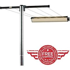 Clothesline Steel Post Hanger Clothes Outdoor Laundry Dryer Home use w/ 5 Line