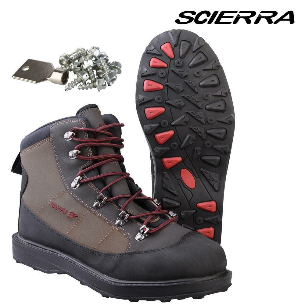 Scierra X-Tech CC6 Wading Boots size Cleated sole + Studs Size 40- 6 RRP .95