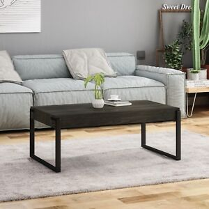 Details About Shaw Modern Contemporary Faux Wood Coffee Table With Iron Legs