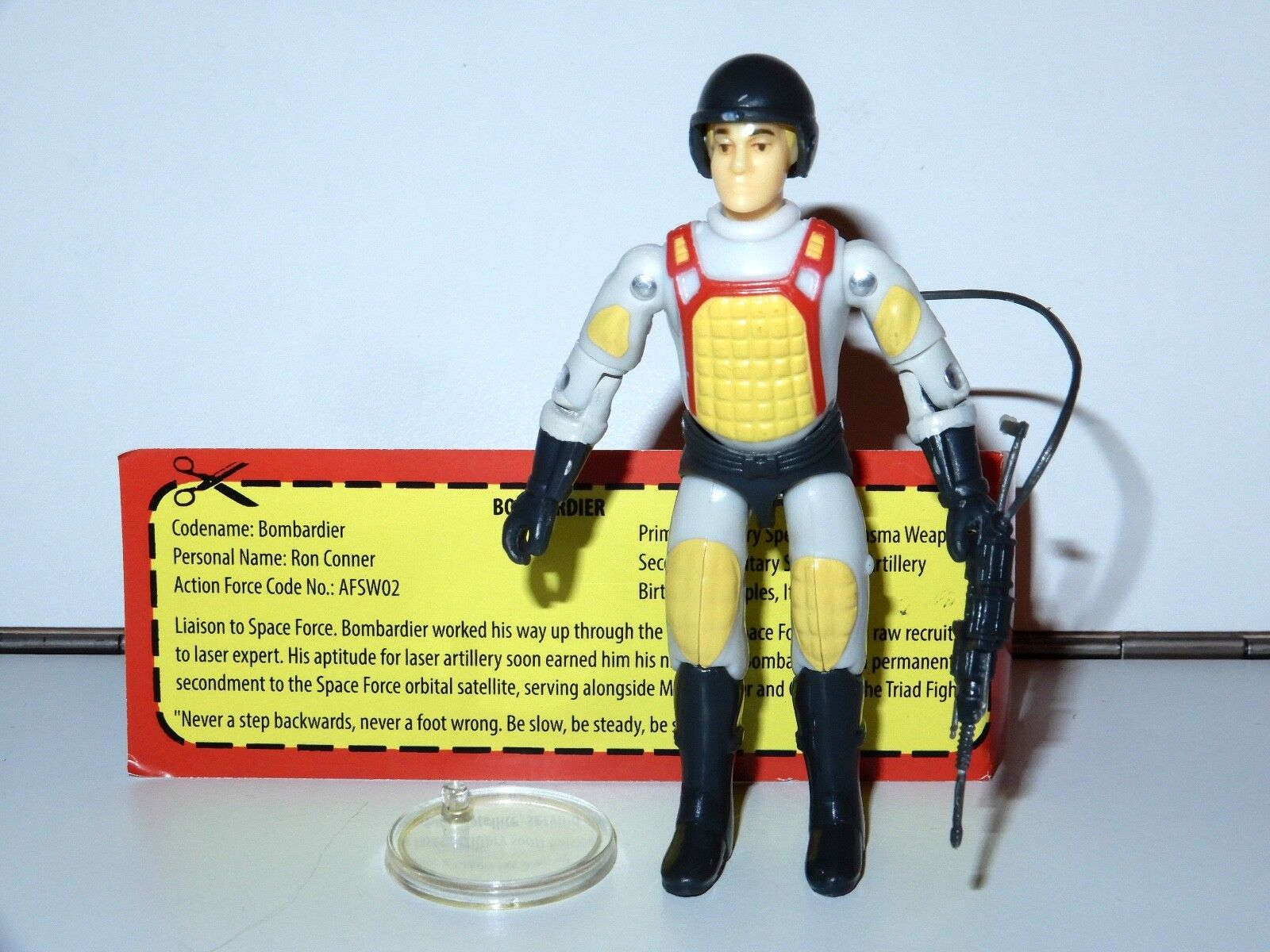 2017 GI JOE   ACTION FORCE SPECIAL WEAPONS 'BOMBARDIER v1.5' - BFTB EXCLUSIVE UK