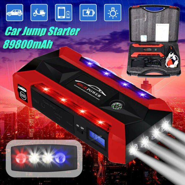 89800mAh Portable Car Jump Starter Power Bank Battery Charger Emergency Booster