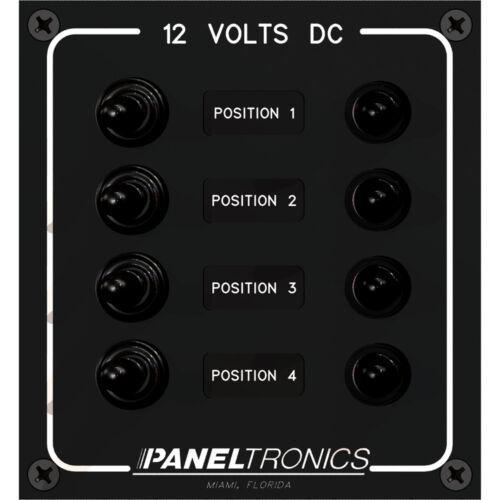 DC 4-Position Toggle Switch /& Circuit Breaker Paneltronics Waterproof Panel