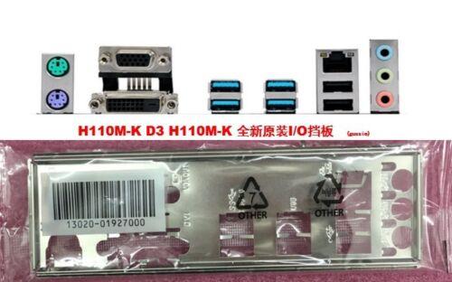 Nouveau Original Asus I//O IO Shield pour H110M-K//H110M-K D3 plaque arrière #G1678 XH