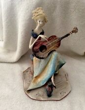 ITALIAN HAND SCULPTURE ART FIGURE BY ADRIANO COLOMBO - MUSICIAN - RARE