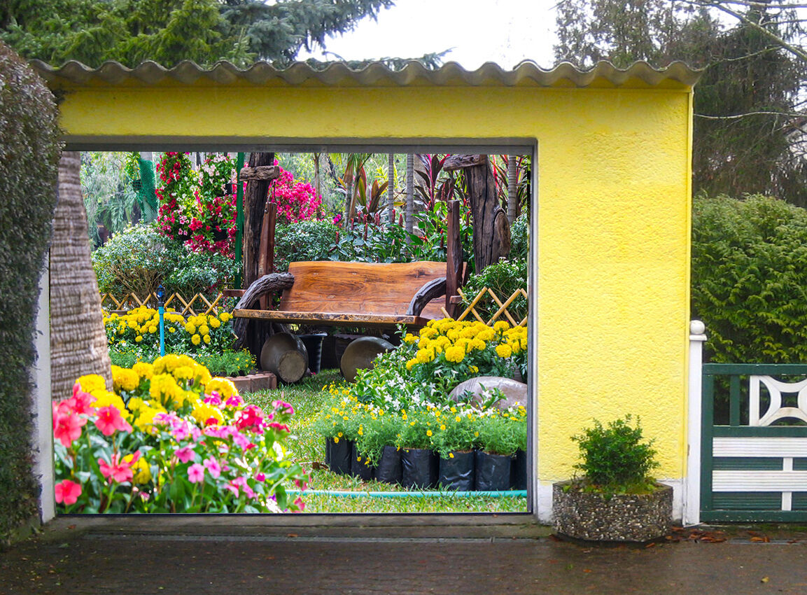 3D Elegant garden Garage Door Murals Wall Print Decal Wall Deco AJ WALLPAPER AU