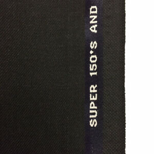 3-5-Metres-Dark-Grey-Twill-Super-150-039-s-Wool-amp-Cashmere-Suit-Fabric-by-Selka