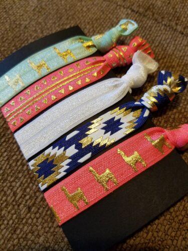 Llama Elastic Hair Ties-Llama party favors Llama drama aztec... Llama gifts