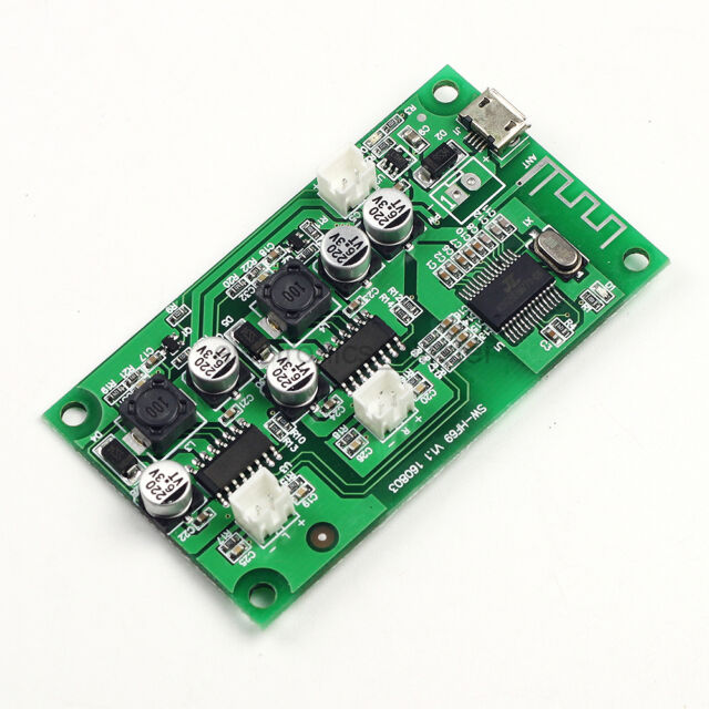 2*6W 2-channel Stereo Bluetooth Amplifier Board Lithium Battery powered AMP DC5V