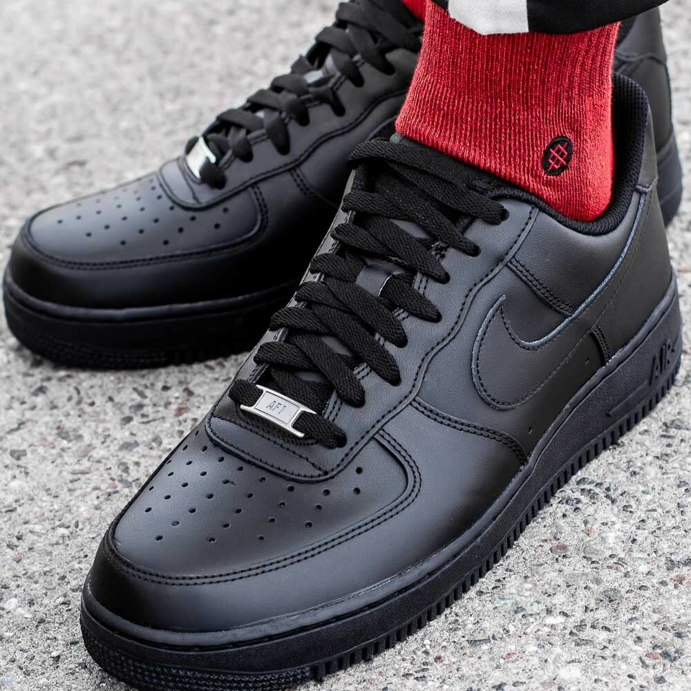 NIKE AIR FORCE 1 '07 315122-001 zapatos hombres sport negro zapatillas baskets
