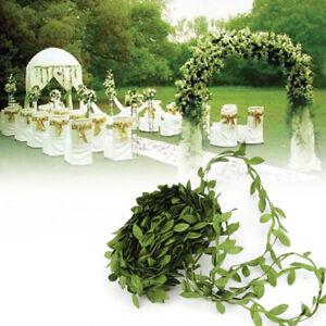 10M-Flor-Guirnalda-De-Vid-Hoja-de-artesania-artificial-planta-Guirnalda-Follaje-Decoracion-Verde