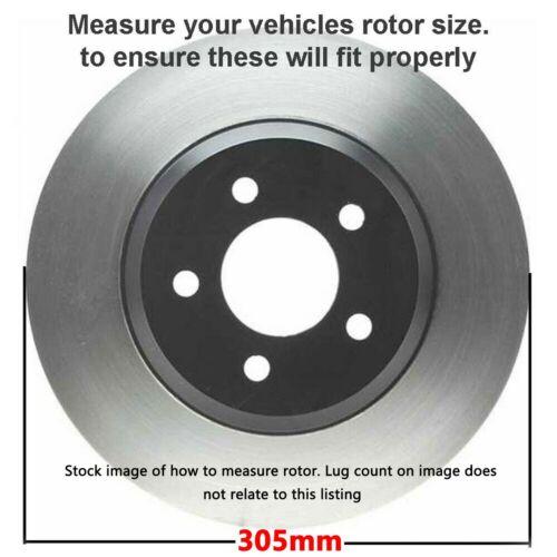 """Rear Drill Brake Rotors /& Ceramic Pads for 2008-2011 Grand Caravan Journey 12/"""""""