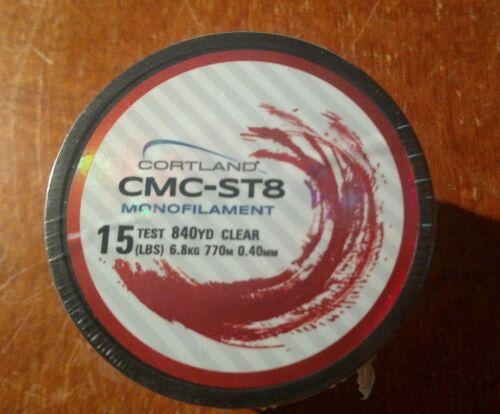Lot of 6 Spool  15 LBS Test x 840 YD Cortland CMC-ST8 Monofilament Fishing Line