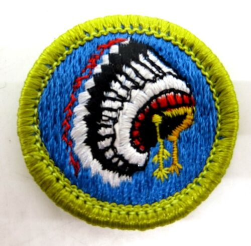 Type H Plastic Back Indian Lore Boy Scout Merit Badge